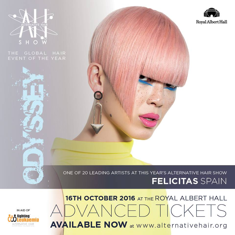 Felicitas en el Alternative Hair Show