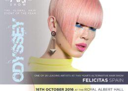 Felicitas en el Alternative Hair Show